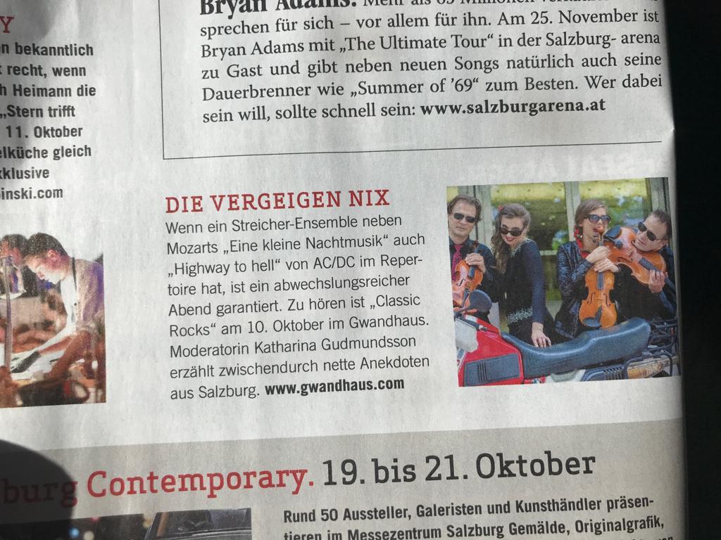 Weekend Magazin, Oktober 2018